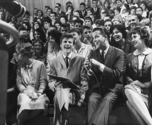 Dick Clark interviews Bobby Rydell on AB. Uploaded by cdn.picapp.com.