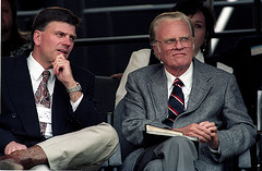 Franklin and Billy Graham. Uploaded on Flickr by escapedtowisconsin.