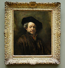 Rembrandt, Self Portrait. Flickr photo, uploaded by jbparker.