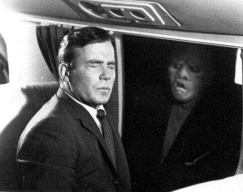 William Shatner from a classic Twilight Zone episode. Uploaded by greenballoon.net.