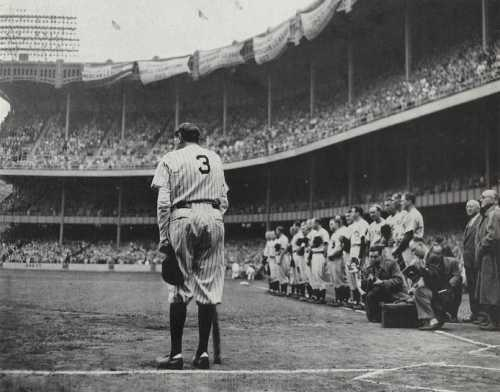 This photo of Babe's farewell won the Pulitzer Prize. Uploaded by yale.edu.