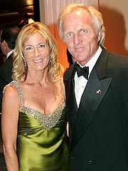 Chris with new husband Greg Norman. Uploaded by timeinc.net.