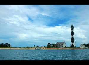 Cape Lookout Lighthouse, Cape Lookout, NC. Uploaded to Flickr by Jasber.