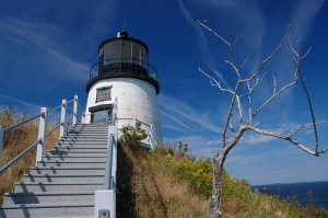 Owl's Head Lighthouse, Owl's Head, Maine. Uploaded to Flickr by aybee27.