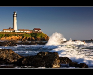 Pigeon Point Lighthouse, Pigeon Point, California. Uploaded to Flickr by prevailingconditions.