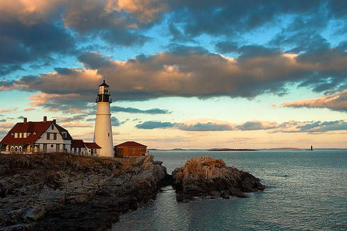 Portland Head Light, Cape Elizabeth, Maine. Uploaded to Flickr by Ed Karjala.