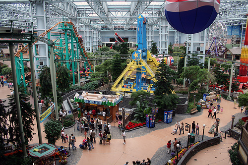 Inside Nickelodeon Universe at the Mall of America. Uploaded to Flickr by Poppyseed Bandits.