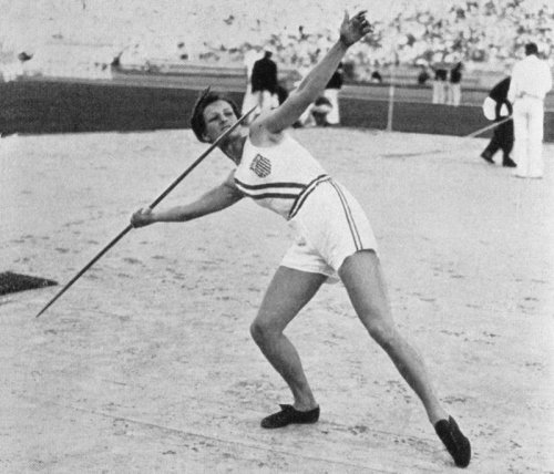 Babe set world records in the javelin and hurdles at the 1932 Summer Olympics. Uploaded by z.about.com.
