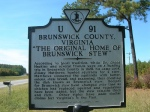 Brunswick Co. Virginia makes its claim. Uploaded to Flickr by jimmywayne.