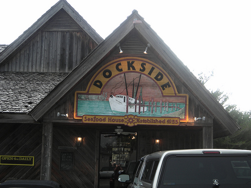 Dockside, my favorite Calabash restaurant. Uploaded to Flickr by b alasdair2.