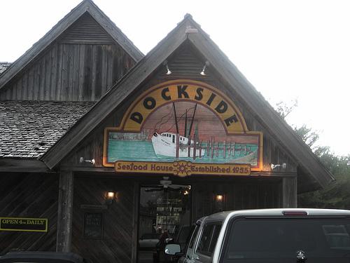 Dockside, my favorite Calabash restaurant. Uploaded to Flickr by b alasdair2.