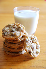 Cookies and milk. Oh, baby. Uploaded to Flickr by soundless space.