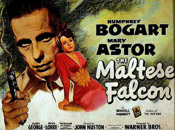 Bogart and Astor on the poster, not Lorre and Greenstreet. Duh. Uploaded by content.artofmanliness.com.