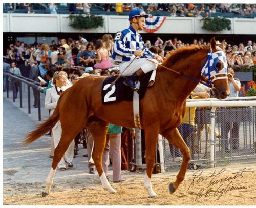 "Jockey Ron Turcotte aboard ""Big Red."" Uploaded by best-horse-photos.com."