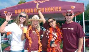 Hokies are as good in the parking lot as on the field. Uploaded by vtmagazine.vt.edu.