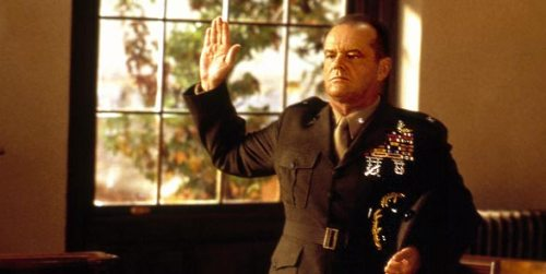 Jack Nicholson is wonderful as the arrogant Col. Jessup. Uploaded by i.cdn.turner.com.