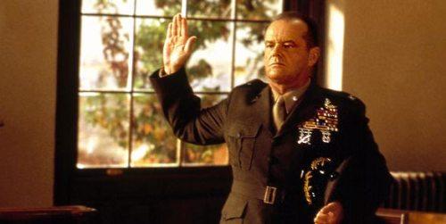 Jack Nicholson is wonderful as the arrogant Col. Jessup. Uploaded by i.cdn.turner.com.