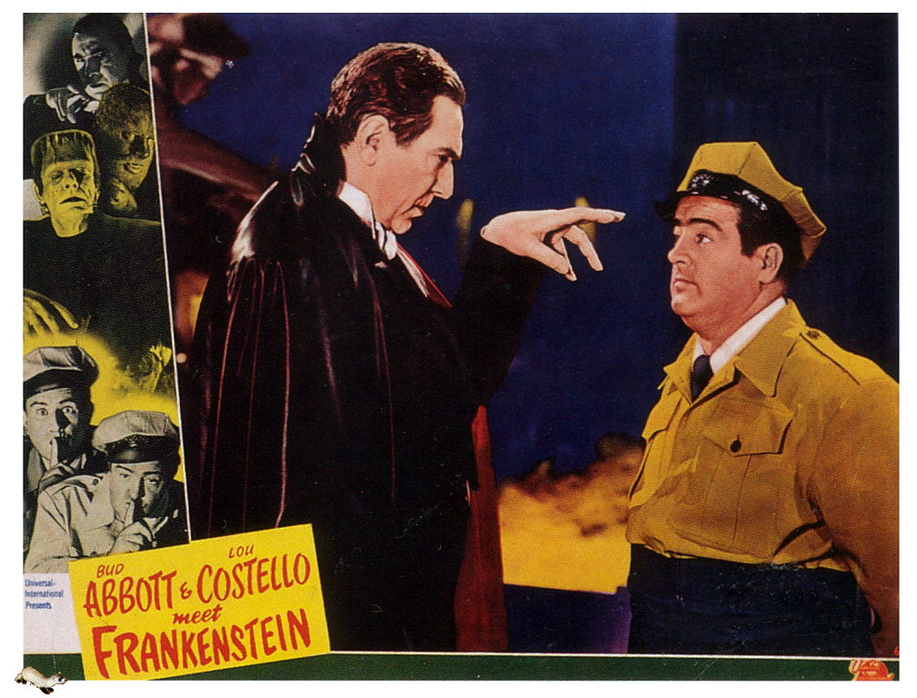 Abbott and Costello met Frankenstein, the Invisible Man, and Dr. Jekyll and Mr. Hyde. Uploaded by freeclassicimages.com.
