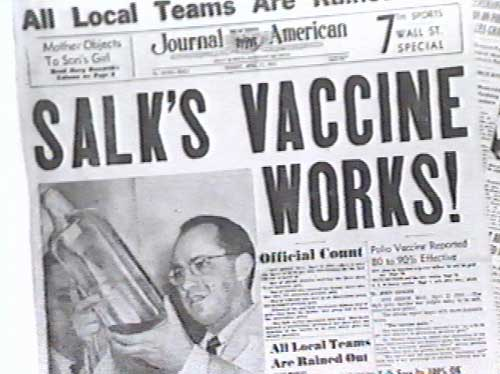 Salk's discovery made him a genuine American hero. Uploaded by meisenproductions.com.