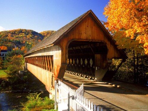 Bridge  Woodstock Vermont by florida-sportsman-magazinedotcom