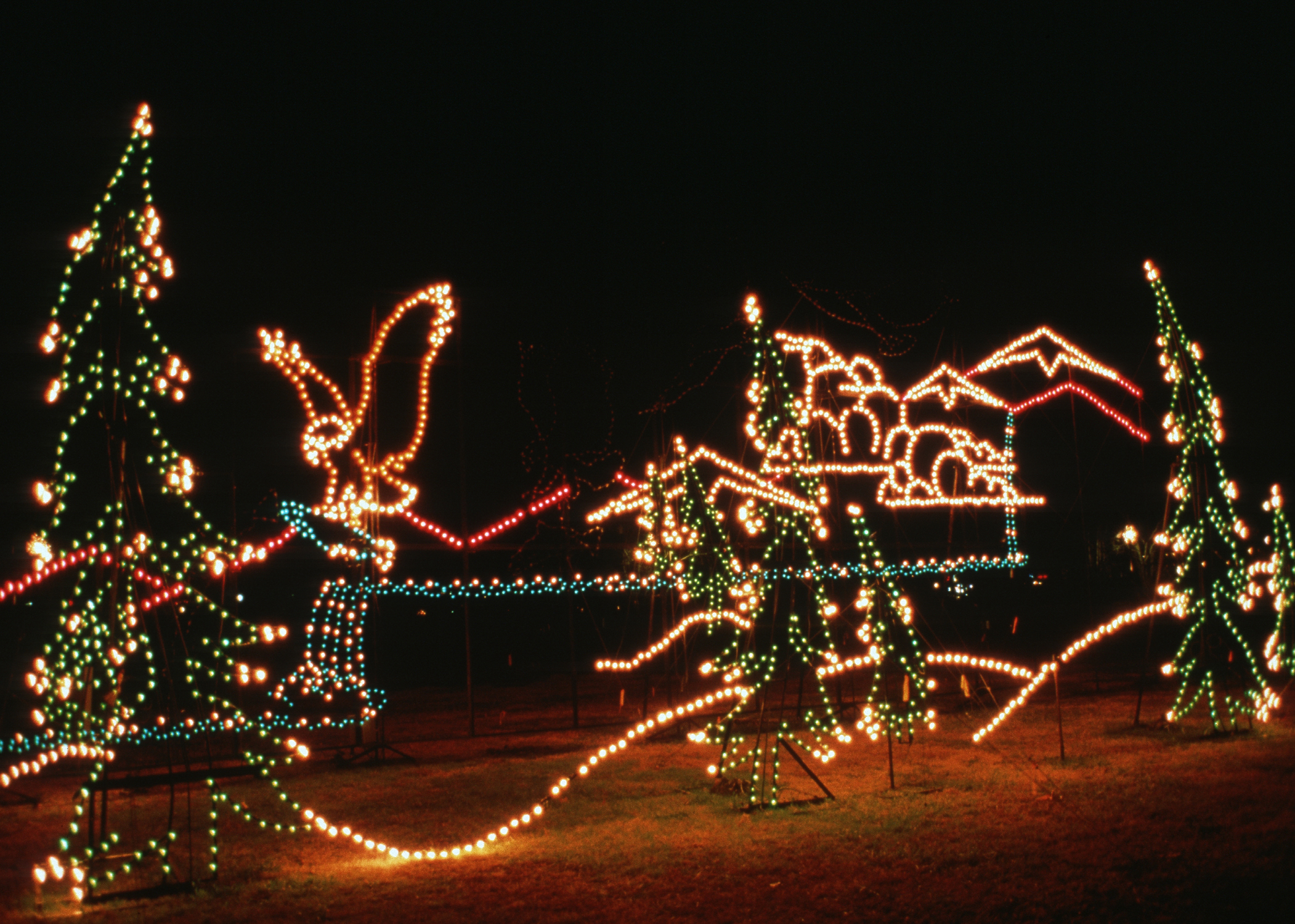Christmas Lights Smoky Mountain By
