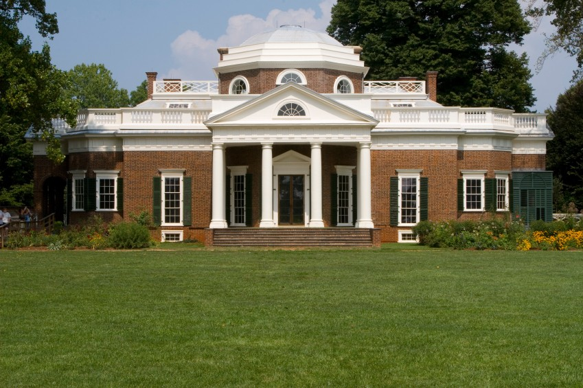 Thomas Jefferson's home Monticello, an architectural treasure, www.greatamericanthings.net