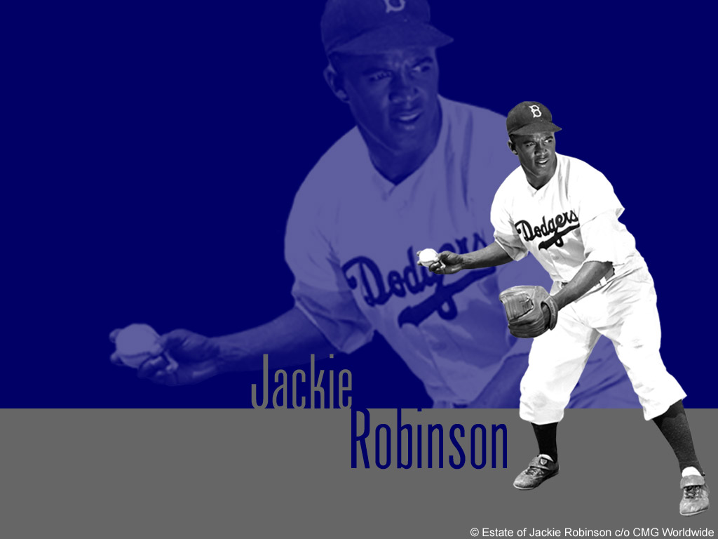 Jackie Robinson broke baseball's color barrier, seen at www.greatamericanthings.net