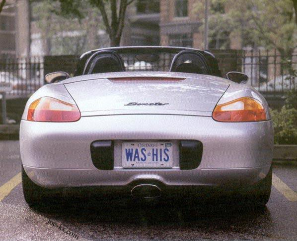 Vanity plates are used to show